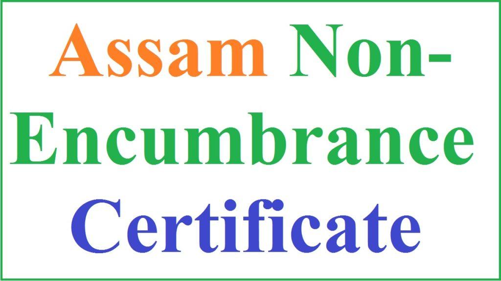 NON Encumbrance certificate Assam